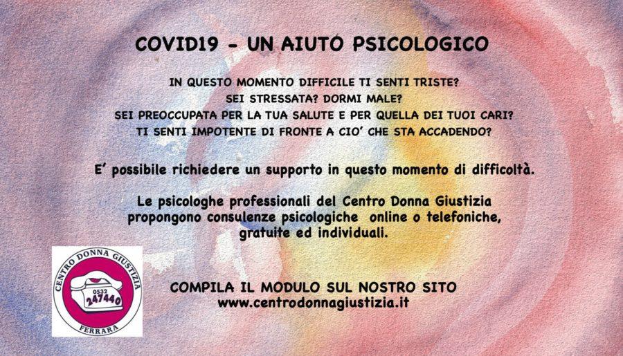 Covid 19 – Un aiuto psicologico